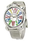 GAGA Milano Watch MANUALE Slim 46MM Acciaio Ref.5080.11J Silver [Parallel Import Goods]