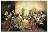 ZRRTTG Lienzo Pintura Al óLeo 60x90cm Reproducciones de la última Cena Cuadros Decorativos de Da Vinci Decoración del hogar Poster Y Estampados Arte Cuadros Sin Marco