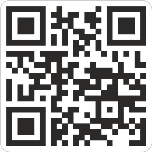 QR-CODE Aufkleber Sticker 5 x 5 cm, wir erstellen nach Ihrem Wunschtext/Domain 50 Stück