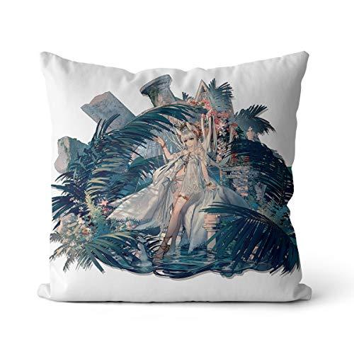 Arknights - Cojín de algodón y lino, 50 x 50 cm, para Cosplay Arknights Platino, adecuado para almohadas de cama y sofá, sin relleno