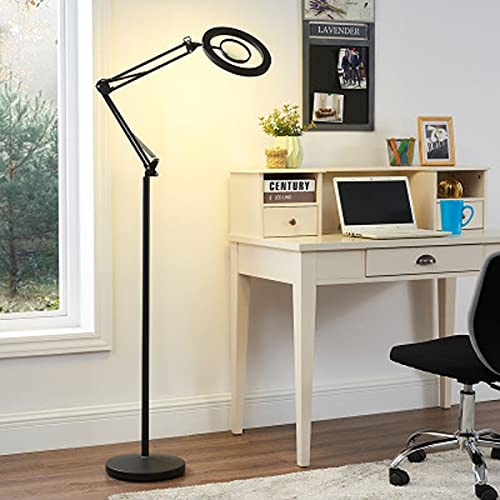 ZKAIAI 8X LED Cool White Light Beauty Tattoo Beauty Eyelash Tattoo Floor lamp Living Room Bedroom Eye Protection Vertical Table lamp