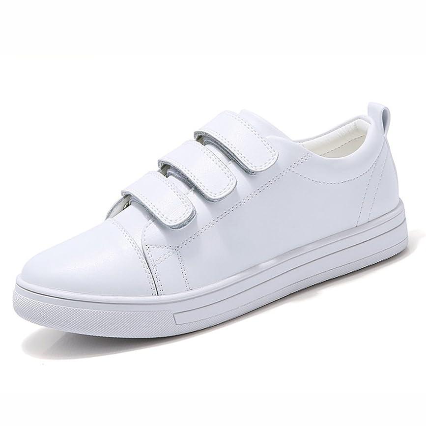 コンピューター関連する無実HWF レディースシューズ 白い靴女性の学生フラットボトム女性の靴粘着性のある控除夏 ( 色 : 白 , サイズ さいず : 35 )