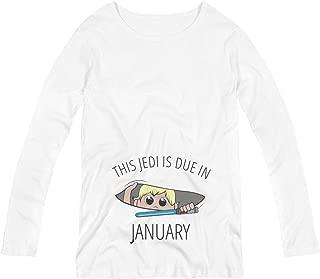 Jedi Peek A Boo Baby Due in January: Maternity Long Sleeve Tee
