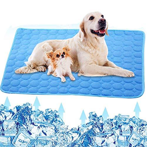 Aiung - Alfombrilla de refrigeración lavable para perros y gatos, de seda de hielo para perros y gatos, transpirable