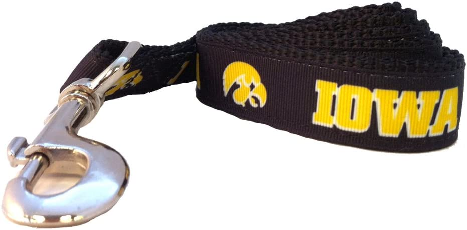 NCAA Iowa Hawkeyes Dog Max 73% OFF Team Sales Large Color Leash