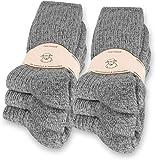 normani 6 Paar Norweger Socken mit Wolle Anthrazit, Wintersocken, Herrensocken mit Polstersohle Farbe Hellgrau Größe 43-46