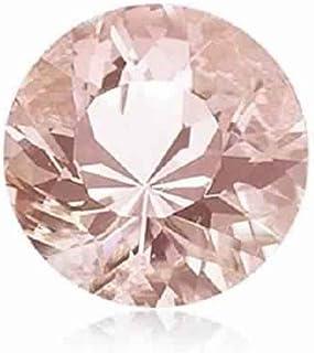 Mysticdrop 0.50-0.60 Cts of 5.5 mm AAA Round Diamond Cut Morganite (1 pc) Loose Gemstone