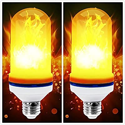 LED Flame Effect Light Bulb - 4 Modes with Upsi...