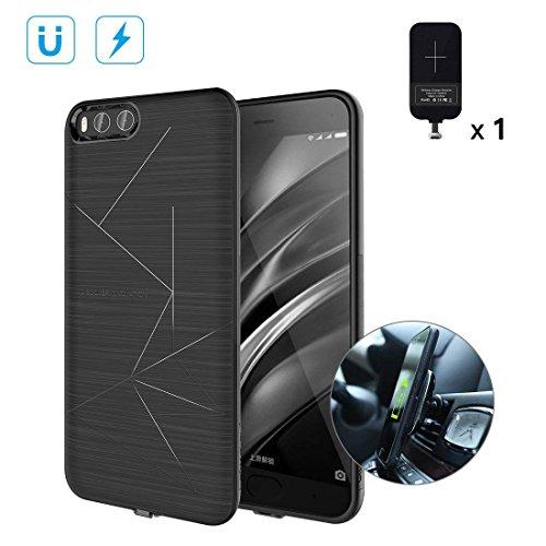 NILLKIN Funda Xiaomi Mi6, Estuche de TPU magnético Delgado con Receptor de Carga inalámbrico, Estuche magnético para Cargador de Coche, Estuche Antideslizante para Xiaomi Mi6, Negro