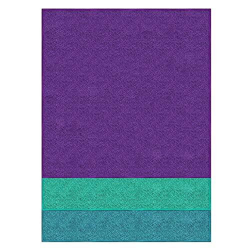 Pano Microfibra Multiuso, 3 Peças, Azul/Verde/Vermelho, Flash Limp