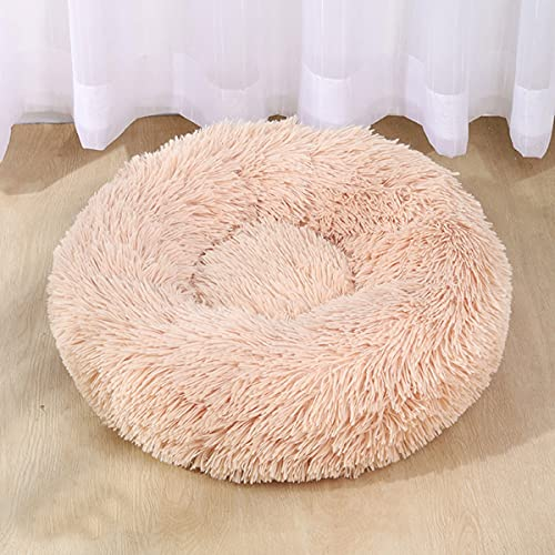 VISSJF Cama para Perros Donut Cat Bed Cozy Pet Dog Bed Peluche Cuddler Suave Puppy Sofá Cat Cojín Máquina Cama De Perro Sofá Cama,B,60cm