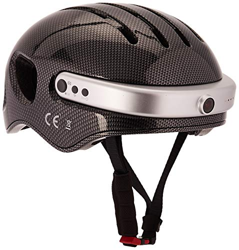 Airwheel C5 Fahrradhelm mit HD-Kamera, Lautsprecher und Bluetooth (carbonschwarz) (Kopfumfang: XL Größe: 59-63cm)