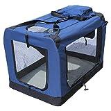 YATEK Transportin para Perros Plegable entradas Laterales y Superiores con Alta Visibilidad, Confort y Seguridad para tu Mascota de tamaño XXXL (102 x 69 x 69 cm)