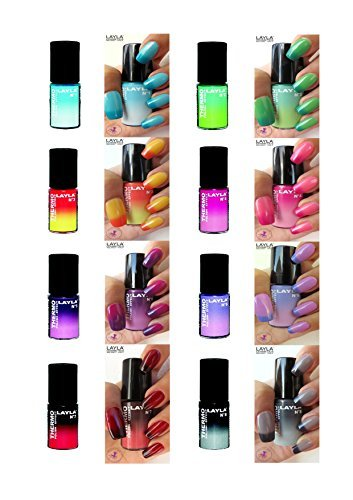 THERMO EFFECT NAIL POLISH by LAYLA - EIGHT COLOUR SET - LIMITED EDITION ... by LAYLA COSMETICS MILANO …