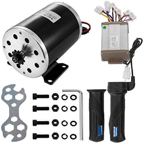 VEVOR 48V DC 1000W Electric Brushed Motor with 3000RPM Speed Controller and Throttle Handle Wrenches,Screw Set Mounting Bracket for DIY Electric Scooter E Bike Go-kart
