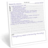 """50 Page Notepad. To do list notepads that house a checklist, a priority section, a notes section. Each notepad has 50 pages. The perfect size, at 11""""X8.5"""". Quality 70 pound smooth white paper with chipboard backing. Clean and elegant looking checklis..."""