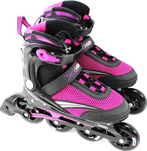 Inline Skates | Gr. 41 ABEC 7 Alu Chassis | lila Softboot ü2ü 13 3375