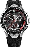JACQUES LEMANS Formula 1 F-5026 Monte Carlo SL A- - Reloj de Mujer de Cuarzo, Correa de Otro Material Color Negro (con cronómetro)