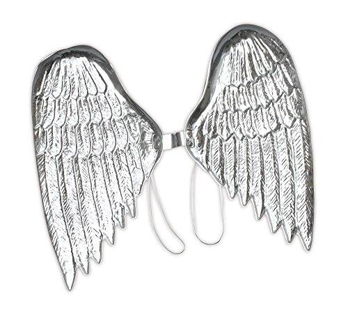 Bristol Novelty Ailes d'ange en Plastique BA003 - pour Femme - Argentées - Taille Unique
