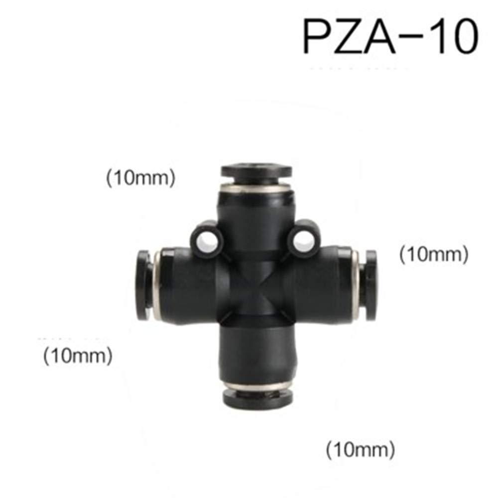 PZA-12 X 10PCS Pneumatic air Pipe Quick Plug Connector Cross Four-Way PZA4//6//8//10//12