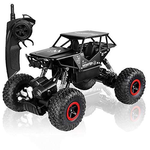 OUUED RC Auto van de Weg, 1/14 Alloy RC Car Bigfoot voertuig Truck Off Road Racing Vehicle 2.4G Remote speelgoed control Buggy Crawler Toy, Blue & GreenChildren's for jongens meisjes gaven Verjaardag