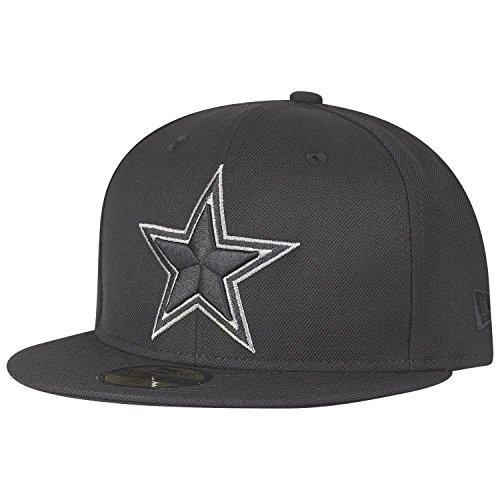 NEW ERA 59FIFTY Fitted–Gorra Dallas Cowboys Negro/Gris, unisex infantil, negro