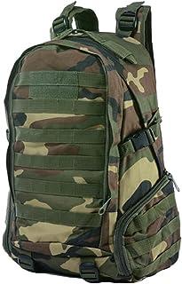 Dengyujiaasj Backpack, Oxford Men Camping Hiking Outside Bag, Raincoat Tactical Backpack Camouflage Backpack 27L Bag (Colo...