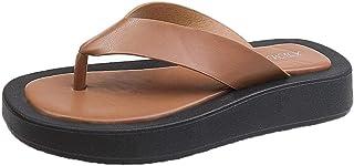 ZUOX Couples Chaussures de Plage décontractées,Tongs antidérapantes à Fond Mou d'été, Sandales Creuses à Bouts Clip épais ...