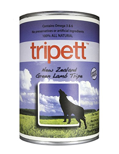 Tripett New Zealand Green Lamb Tripe Dog Food, 13 oz cans, Pack of 12