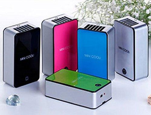 ひんやりミニクーラー軽量タイプ USB充電式 首下げストラップ付 簡単ワンプッシュ 暑い夏対策 各色取り揃え...