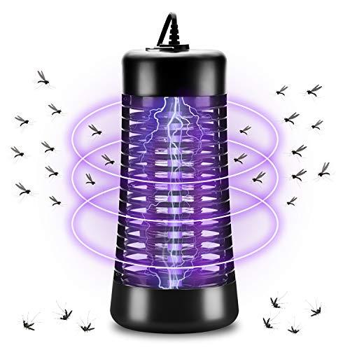 AUERVO Elektrischer Insektenvernichter, Moskitoschutz Insektenvernichter Mückenlampe mit 6W UV-Licht Moskito Zapper Anti Mücken Mückenlicht für Innen