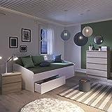 INFINIKIT Janis Ausziehbett, 90 x 200 cm, mit Schubladen, Weiß - 8
