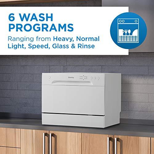 (New Model) Danby DDW621WDB Countertop Dishwasher, White