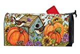 MailWraps Studio M Autumn BirdhouseFall/Winter, The Original Magnetic Mailbox Cover, Made in USA, Superior Weather Durability, Standard Size fits 6.5W x 19L Inch Mailbox
