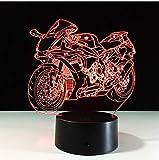 7 farbwechsel motorrad modell 3d nachtlicht neuheit led usb tischlampe re lampe party dekoration