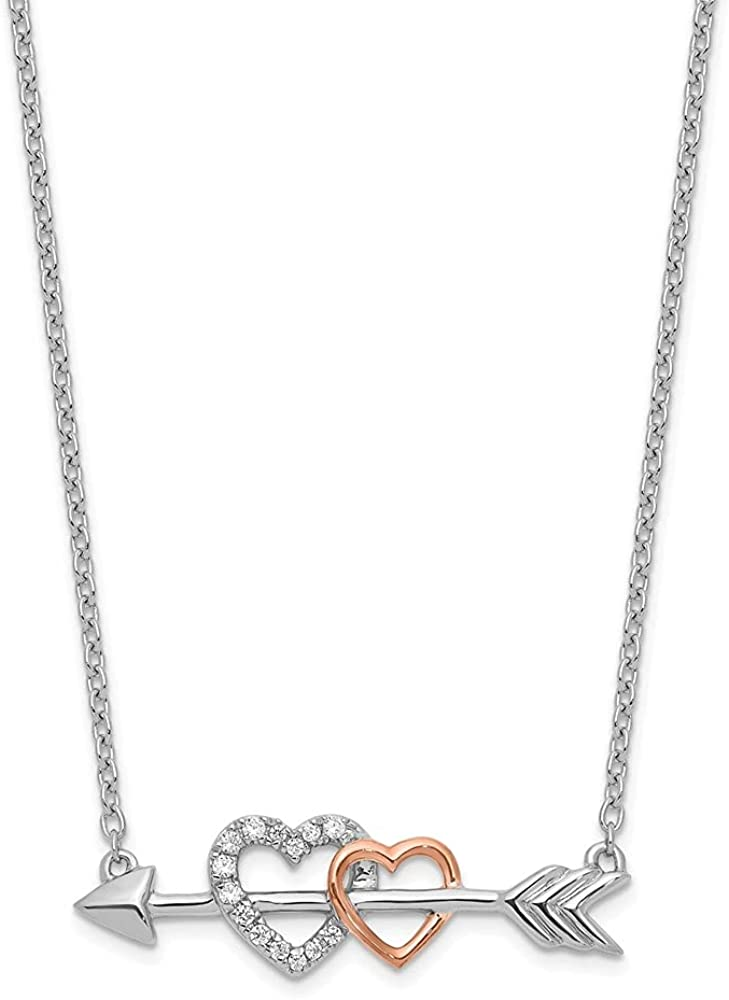 Couture Jewelers - 14k Jacksonville Mall Two-Tone Necklace Diamond Arrow on Popular product Hearts