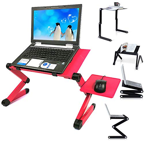 Ergonomics Lapdesk Laptop Stand with Mouse Board, Portable Folding 360°...