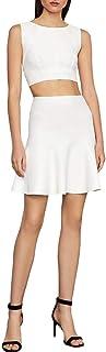 BCBG Max Azria Ingrid Women's Flounced A-Line Pull On Mini Skirt