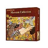Rompecabezas Adulto y Niña 2000 Piezas de un rompecabezas for adultos Señora Ventilador de Klimt Pintura al óleo Juegos de Puzzles Juguete Arte de pared Decoración for el Hogar Juegos caseros