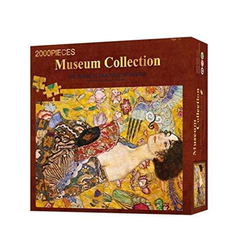 Puzzle para adultos 2000 Piezas de un rompecabezas for adultos Señora Ventilador de Klimt Pintura al óleo Juegos de Puzzles Juguete Arte de pared Decoración for el Hogar Juegos familiares
