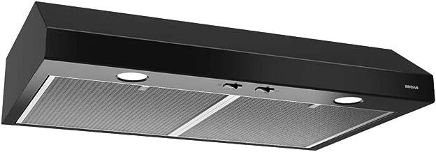 Broan-NuTone BCSD136BL Glacier Range Hood with Light, Exhaust Fan for Under Cabinet, Black, 0.6 Sones, 250 CFM, 36