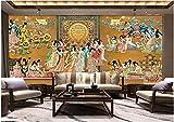 Fotomurales 350x256 cm 7 Strips Ilustración de la dama de la corte gigante china Papel pintado tejido no tejido Decoración de Pared decorativos Murales moderna Diseno Arte de la pared
