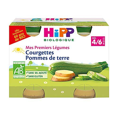 Hipp Bio Mes Premiers Légumes Courgettes Pommes de Terre 4-6m Lot de 2 x 125g