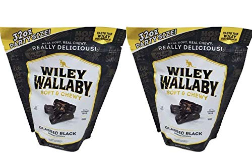 Wiley Wallaby Licorice Bundle Pack in Two Large 2 LB Bags (64 ounces total)