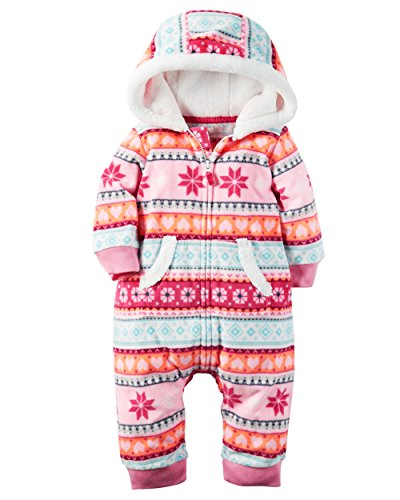Price comparison product image Carter's Baby Girls' 1 Piece Footies and Rompers,  Pink Fair Isle