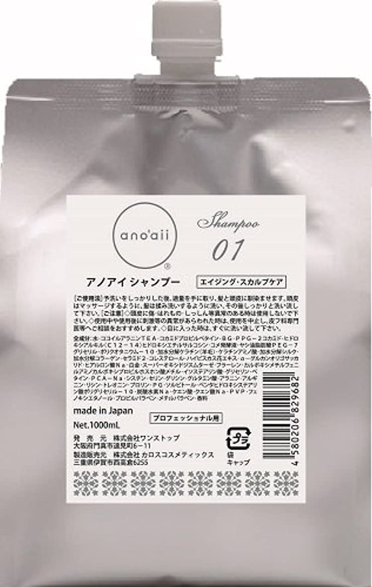 スポーツ制限フローティングanoaii (アノアイ) エイジングスカルプシャンプー 1000ml レフィル