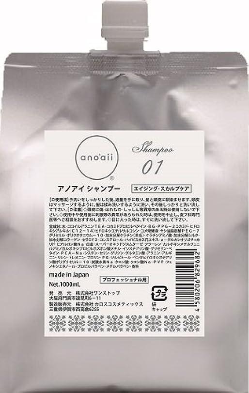 ブラウン揺れる時間とともにanoaii (アノアイ) エイジングスカルプシャンプー 1000ml レフィル
