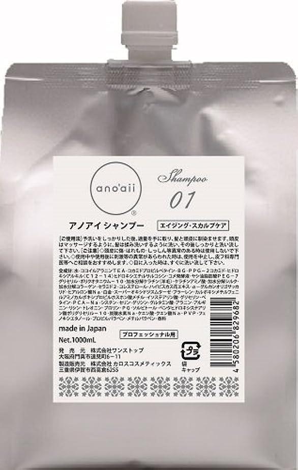 拍手推進、動かすバンカーanoaii (アノアイ) エイジングスカルプシャンプー 1000ml レフィル