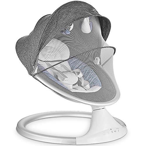 GZP Mecedora Eléctrica para Bebés con Control Remoto, Cómoda Silla Hamaca, Vibración...