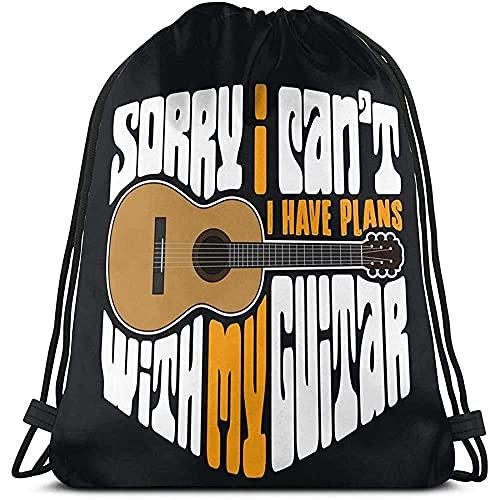 ZB-BIN Gitarren-Rucksack mit Kordelzug, Schultertasche, Turnbeutel, Farbe
